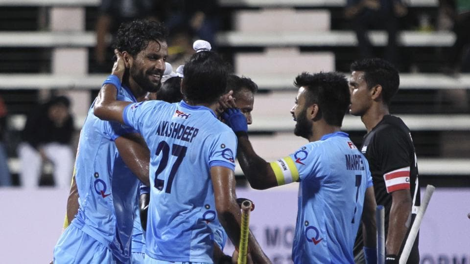 India defeated New Zealand 4-0 to clinch the bronze medal at the Sultan Azlan Shah Cup. Rupinder Pal Singh (L) scored a brace.