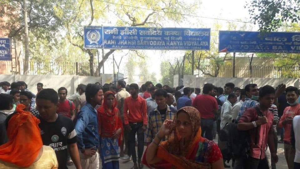The students were from the Rani Jhansi girls school in south Delhi's Tughlakabad.