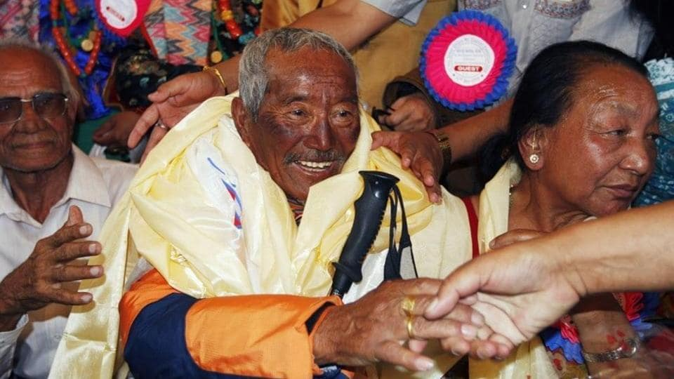 Min Bahadur Sherchan was on a bid to reclaim a title that he lost to Japanese mountaineer Yuichiro Miura in 2013.