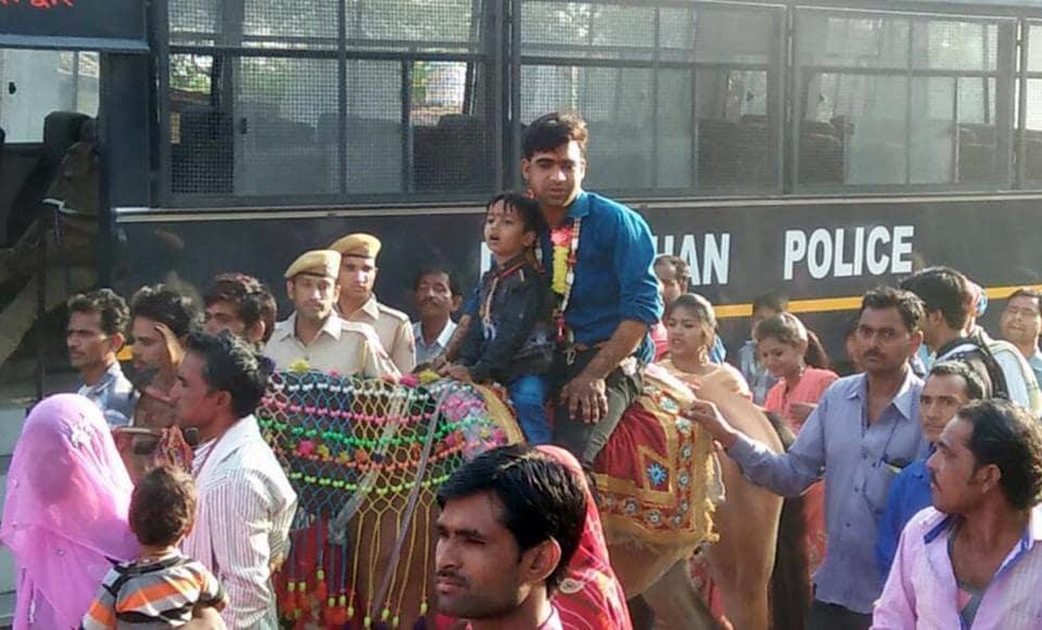 Rajasthan news,Dalit wedding,Dalit groom