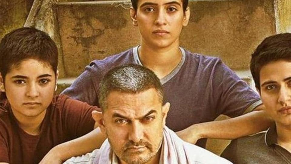 Aamir Khan on the poster of Dangal.