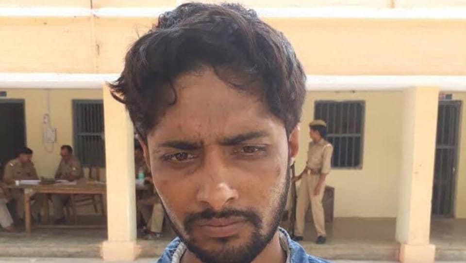 24-year-old Gourav, a cow vigilante who allegedly beat up two men for transporting cows in Jewar.