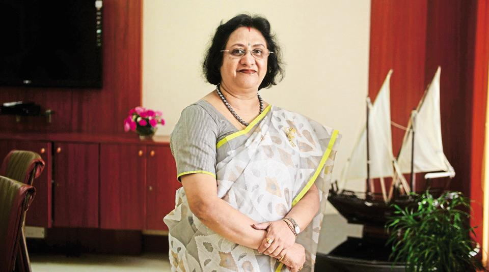 Arundhati Bhattacharya, chairperson of State Bank of India, photographed at the Bank's headquarters in Mumbai.