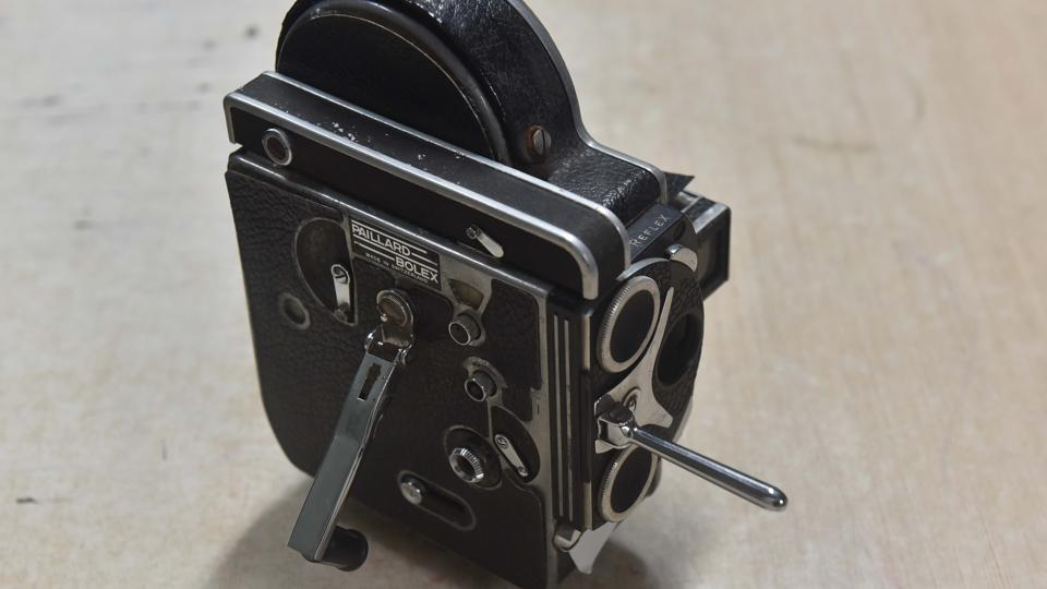 The H 16 Reflex, a black and white camera used by Indian police in the '80s. (Pratham Gokhale/HT Photo)
