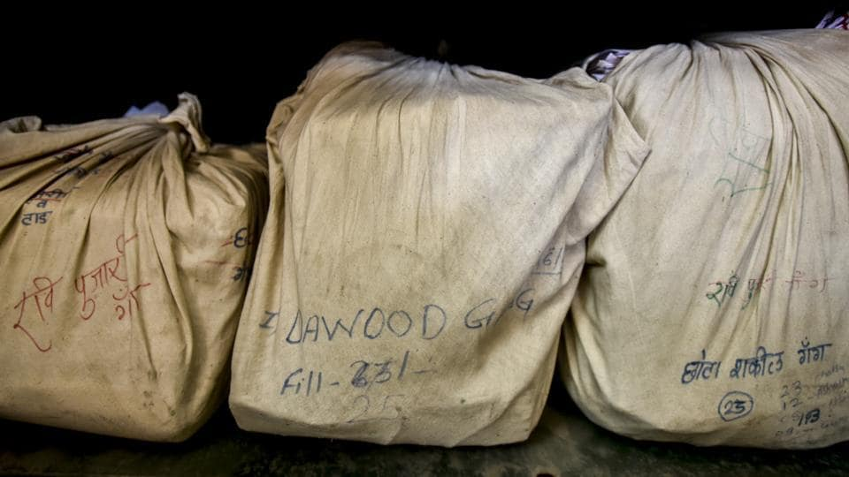 Files of India's most wanted, Dawood Ibrahim, at a storeroom in police headquarters, Mumbai. (Kunal Patil/HT Photo)