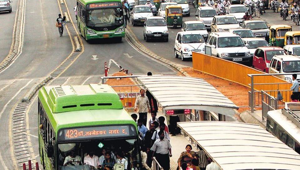 BRT corridor,Delhi,New Delhi