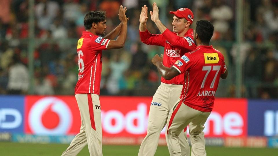 In reply, RCB got off to a worst possible start as Sandeep Sharma struck in powerplay  to get rid of their 'Big Three' - Chris Gayle, Virat Kohli and AB de Villiers.  (BCCI )