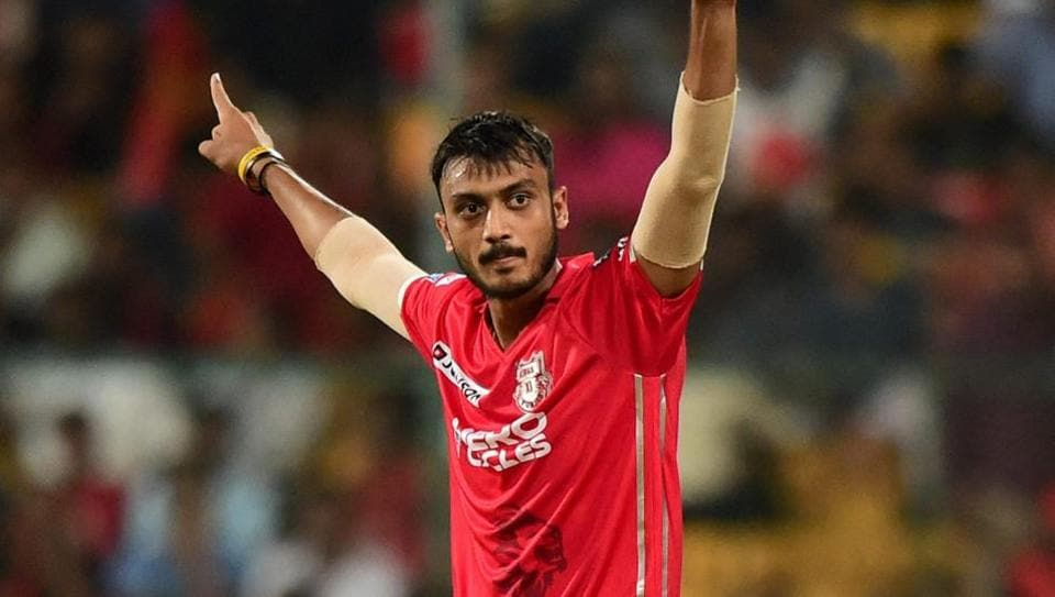 King's XI Punjab's Axar Patel celebrates the wicket of Samuel Badree during the IPL 2017 match against Royal Challengers Bangalore at the Chinnaswamy Stadium in Bengaluru on Friday.