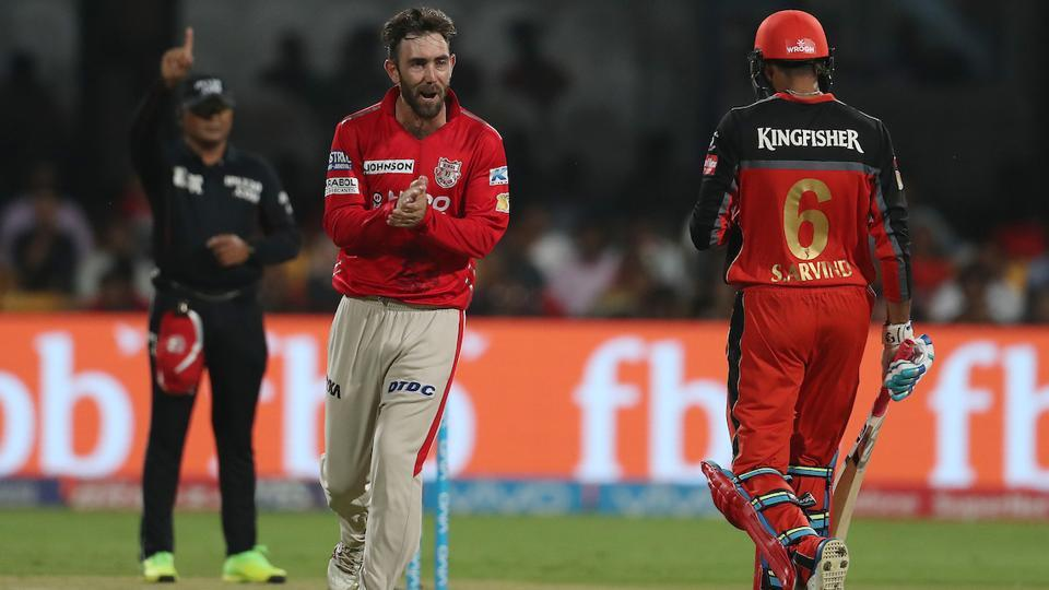 KXIP captain Glenn Maxwell brought himself into the attack and the strategy worked as he got the wickets of Mandeep and Aravind. The hosts still needed 51 off 36 with just three wickets remaining.  (BCCI )