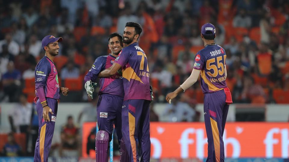 Jaydev Unadkat picked up a hat-trick and took 5/30 to help Rising Pune Supergiant beat Sunrisers Hyderabad by 12 runs to move to second spot in the IPL 2017 points table. (BCCI)