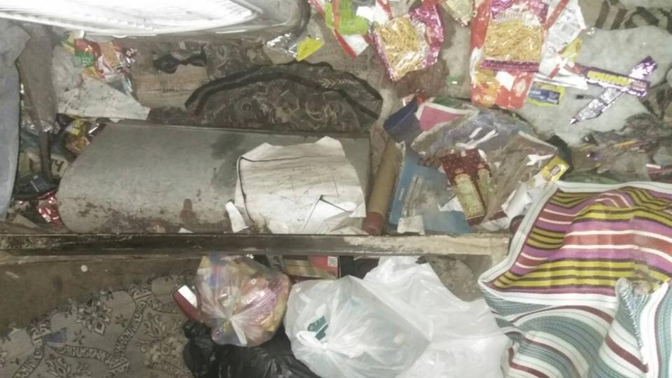 Police rescue a teenage girl from a locked room strewn with garbage in  East Delhi's Mandawali.