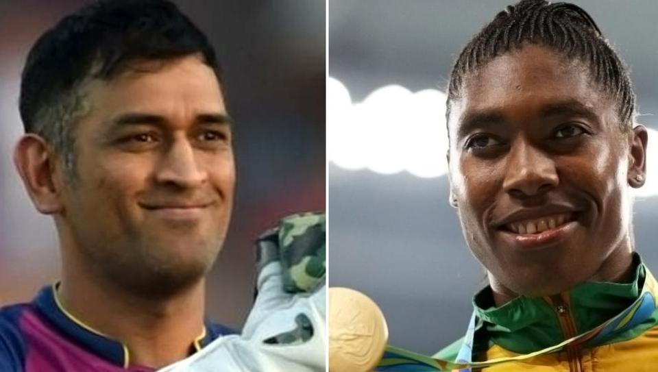 MS Dhoni has been praised by Rio Olympics gold medallist Caster Semenya (R).