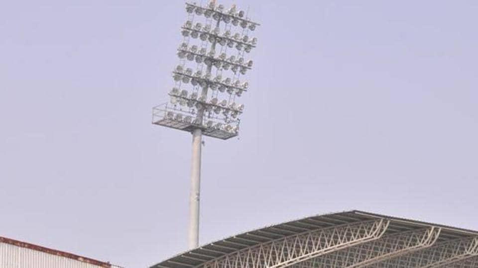 Cricket match,Floodlights,Siri Fort sports complex