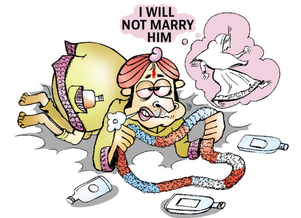 The groom, Ram Pravesh Das, in Bihar's and some of his relatives had come drunk for the marriage in Bihar's Muzaffarpur district.