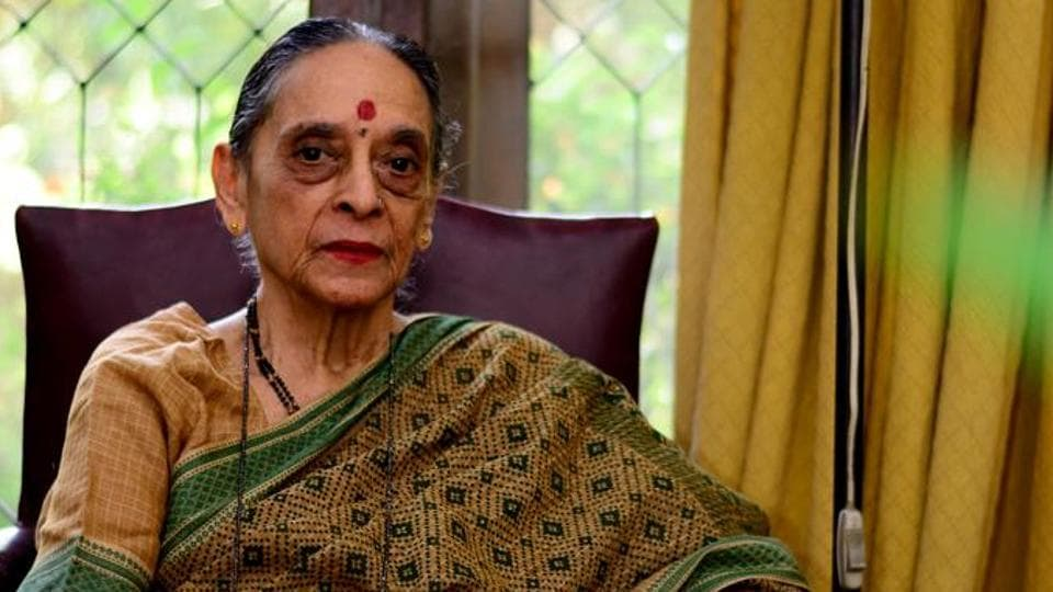 Justice Leila Seth was a woman of many firsts – first woman judge in the Delhi high court and the first woman Chief Justice of a state high court. Pictured here at her Noida home in October 2014.
