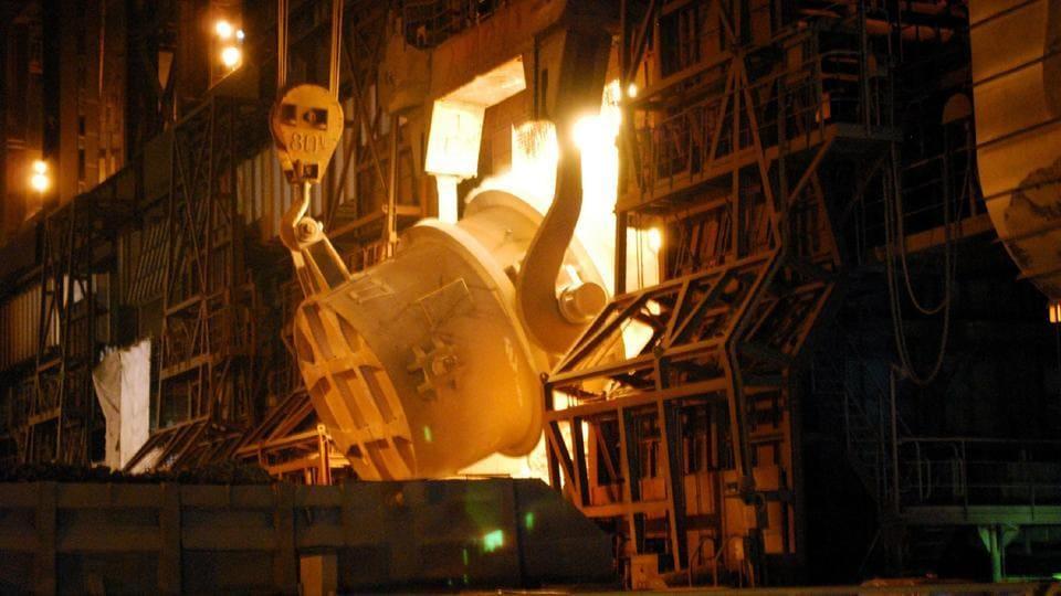molten metal,steel plant,West Bengal