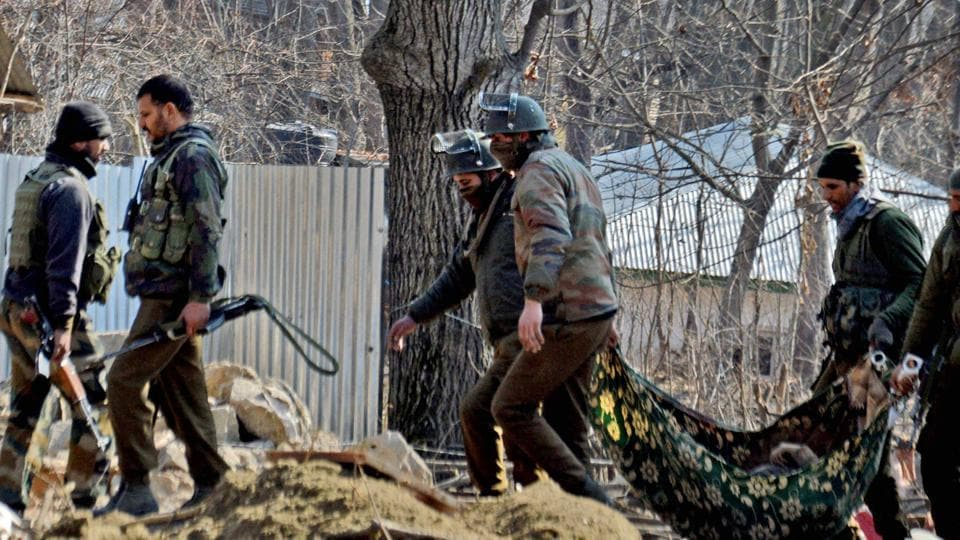 Representative photo: An attack by  militants at a police party in Kulgam on May 6, 2017,  left a policeman and three civilians dead.