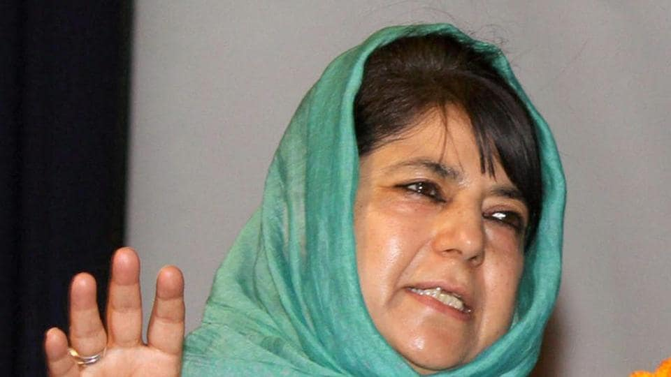 Jammu and Kashmir chief minister Mehbooba Mufti.
