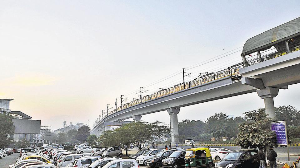 Yellow Line of Delhi Metro,DMRC,Huda City Centre