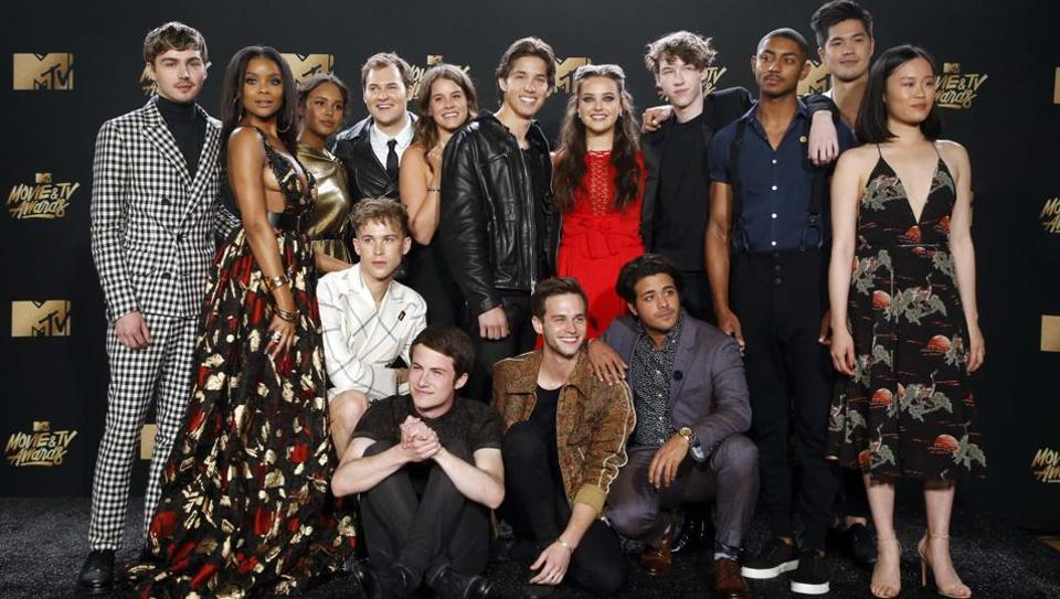 The cast of 13 Reasons Why. (REUTERS)
