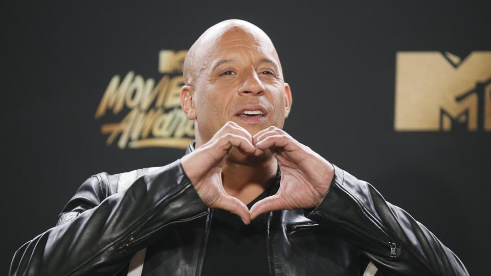 Fast and Furious star Vin Diesel greets his fans at the 2017 MTV Movie And TV Awards at The Shrine Auditorium on May 7 in Los Angeles, California. (Reuters )