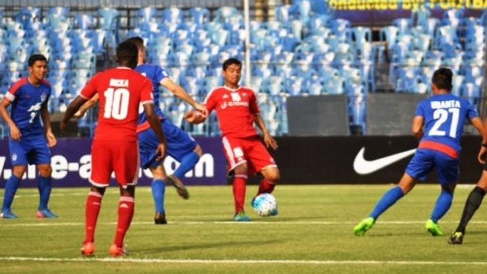 Bengaluru FCbeat Shillong Lajong 3-2 in the 2017 Federation Cup.