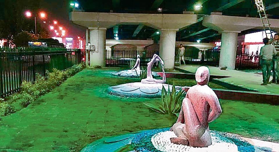 PArks,Delhi parks,PArks under flyovers