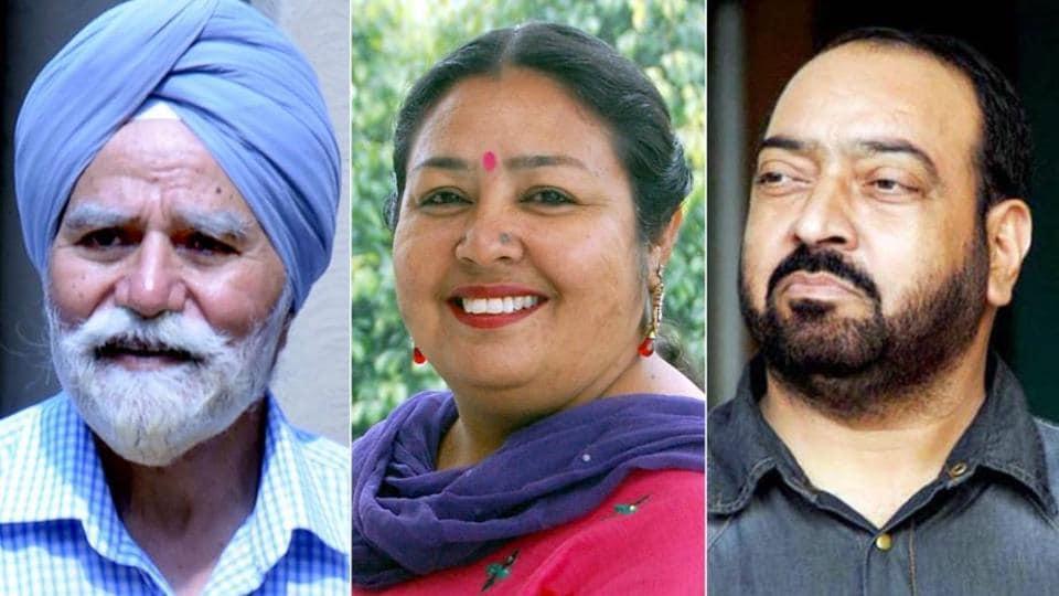 (From left) Jatinder Brar, Anita Devgan and Kewal Dhaliwal.