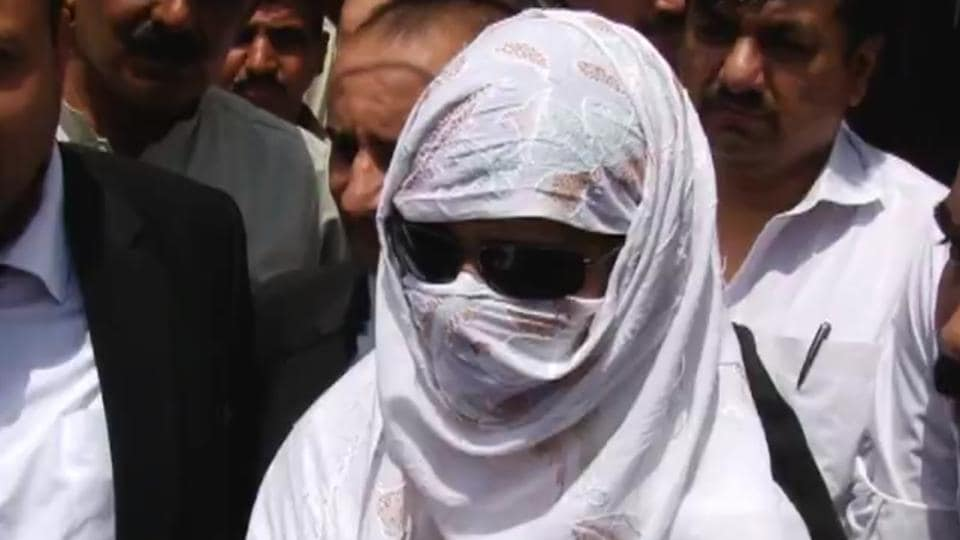 Screen grab from video footage of the Indian woman Uzma, who says she was forcibly married to a Pakistani man, talking to reporters after she appeared in a judicial magistrate's court in Islamabad.