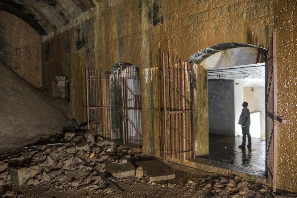 The bunker, presumed to be a war room, was discovered by state officials on August 12 after demolishing a temporary wall blocking the entrance.