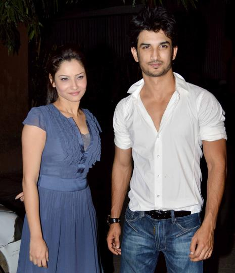 Actor Sushant Singh Rajput and ex-girlfriend Ankita Lokhande were spotted together at a Mumbai coffee shop.