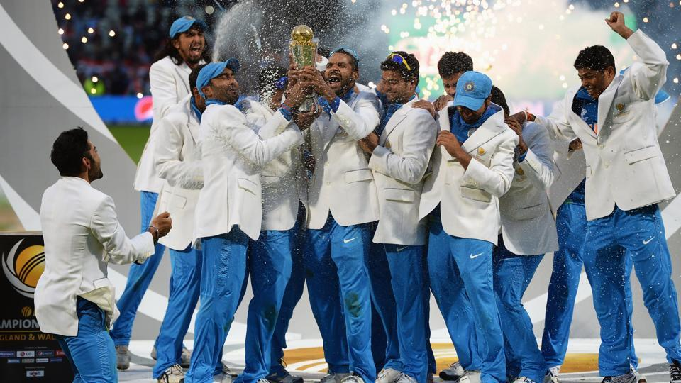 India are the defending champions of the ICCChampions Trophy, having won the 2013 edition by defeating England.