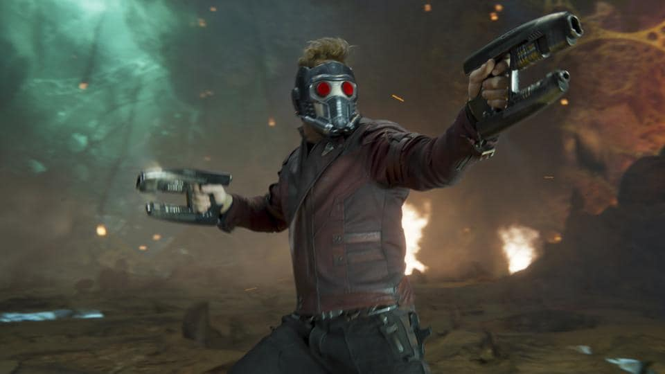 This image released by Disney-Marvel shows Chris Pratt in a scene from, Guardians Of The Galaxy Vol. 2.