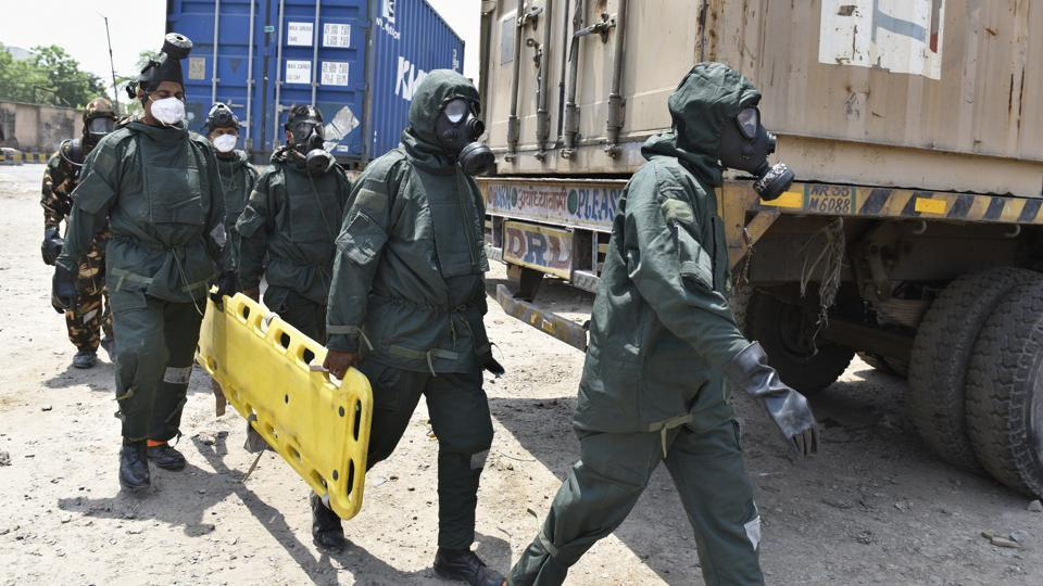 475 schoolchildren reportedly fell sick after inhaling toxic fumes that leaked at CONCORdepot in Tughlaqabad on Saturday.