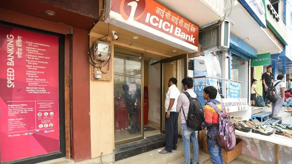 Lines outside ATMs have become shorter.