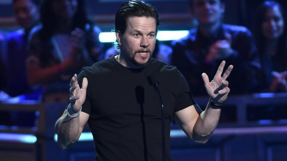 Mark Wahlberg introduces a clip from Transformers at the awards ceremony. (AP)