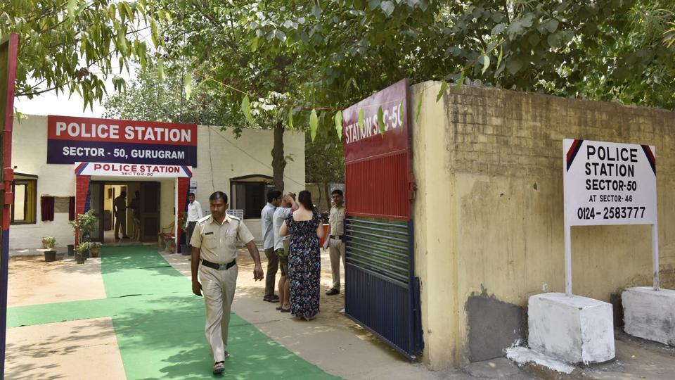 The newly opened Sector 50 police station in Gurgaon onMonday.