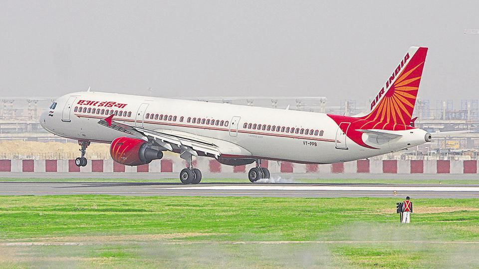 An Air India plane landing at New Delhi's Indira Gandhi International Airport .  Air India consistently lags behinds its peers on performance indicators like passenger load factor, complaints, delays and operational lapses.