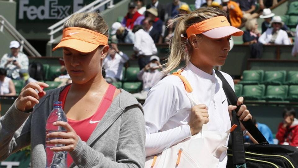 Maria Sharapova,Eugenie Bouchard,Madrid Open