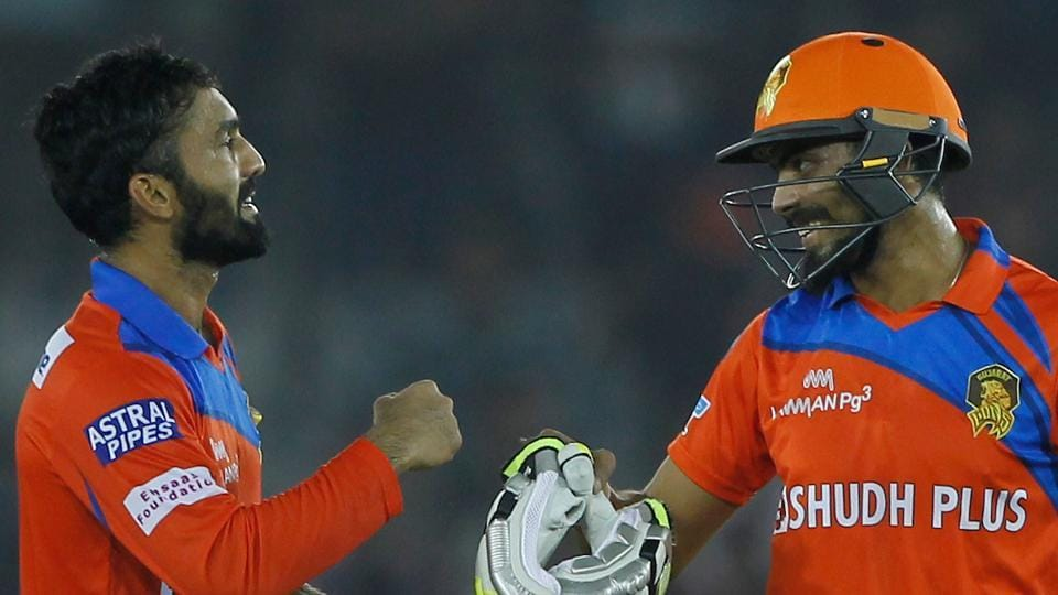 Dinesh Karthik  and Ravindra Jadeja took the Gujarat Lions over the line in what was a six-wicket victory in the 2017 Indian Premier League against Kings XI Punjab in Mohali on Sunday. (BCCI)