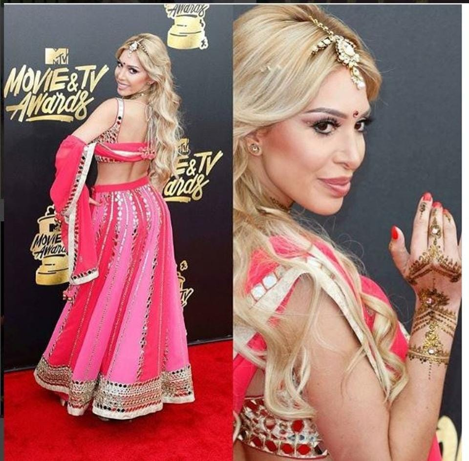 Farrah Abraham wore a Bollywood inspired outfit at MTV Movie & TV Awards .