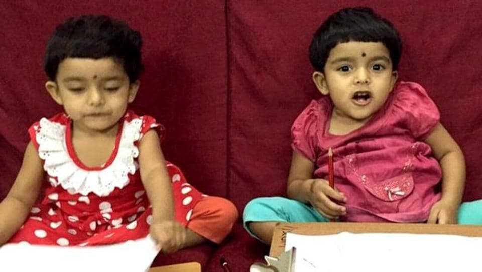 Twins Riddhi and Siddhi were joined at the abdomen.