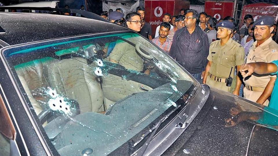 Motorcycle-borne assailants intercepted Dhanbad's former deputy mayor Neeraj Singh's SUV on March 21 and opened fire.
