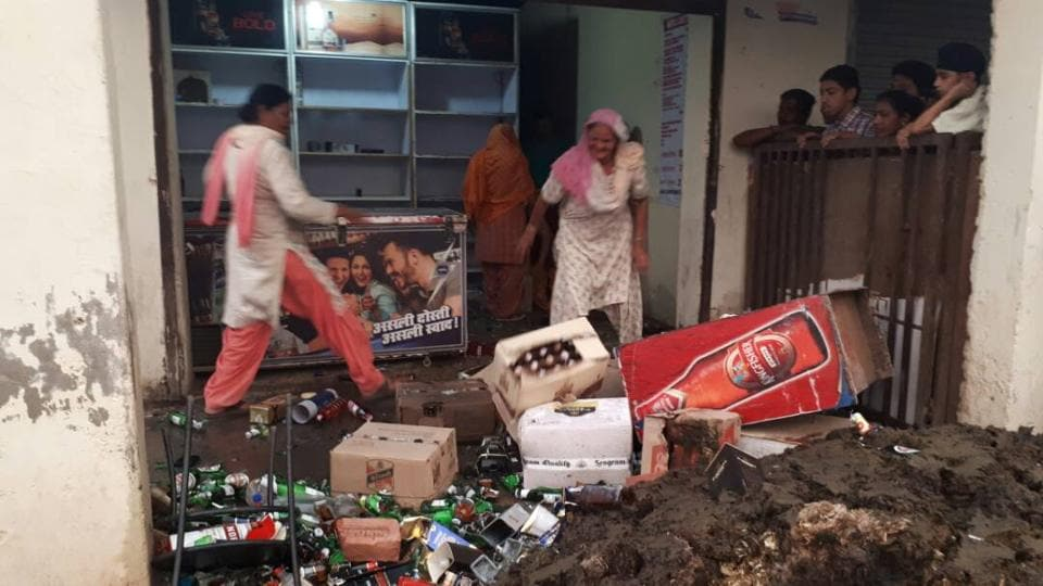 The case was registered after high drama was witnessed outside a liquor vend at Lohgarh in Zirakpur on Tuesday evening after women protested against the setting up of a liquor vend in the residential area and completely damaged it.