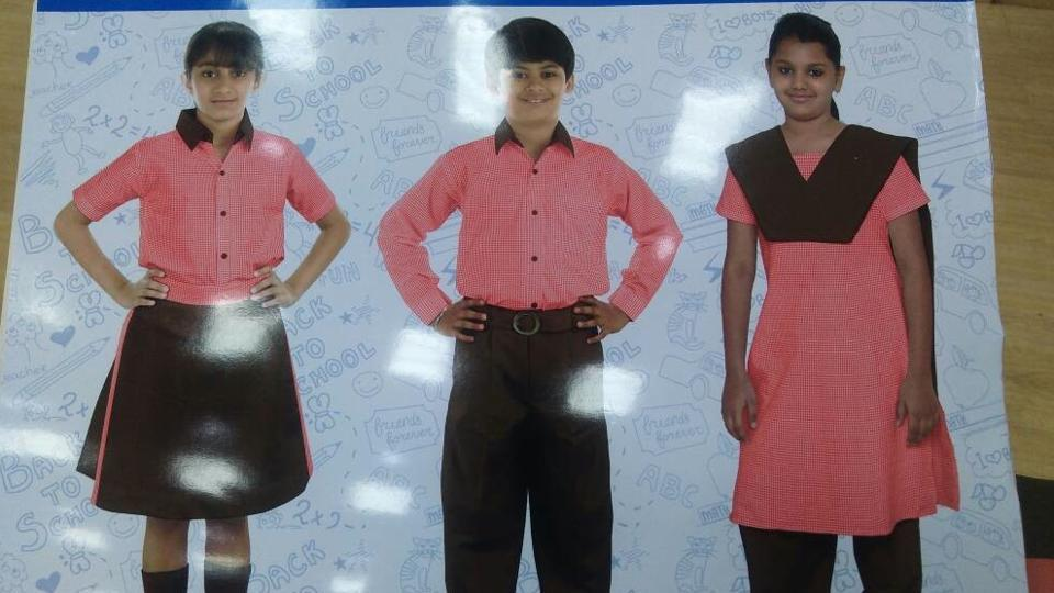The new uniform for students of Uttar Pradesh government schools.