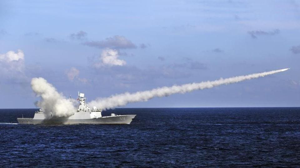 China,China Missile test,Bohai Sea