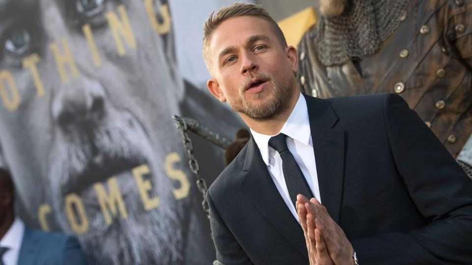 Actor Charlie Hunnam attends the world premiere of Arthur: Legend of the Sword at the TCL Chinese Theatre on May 8.