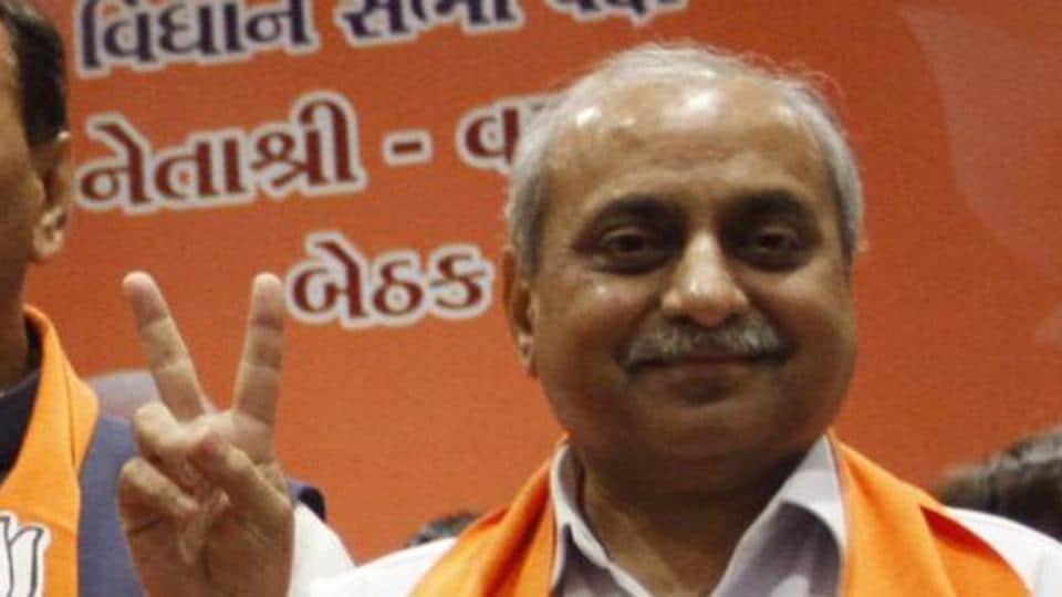 Gujarat deputy CM Nitin Patel.