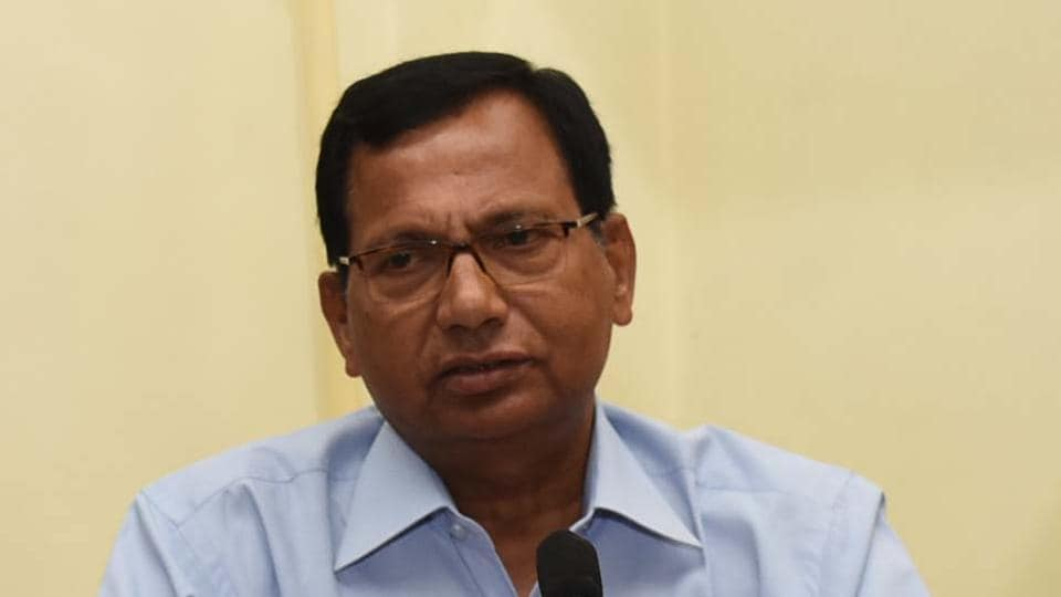 VC of Central University of Jharkhand - Dr Nand Kumar Yadav addressing a press conference in Ranchi