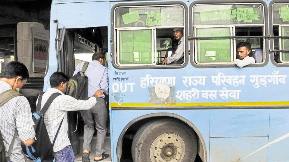 Gurgaon city bus service,DIMTS,bus system Gurgaon